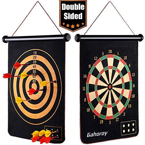Gahoroy Magnetic Dart Board for Kids, Indoor Outdoor Board Games Set, Kids Toys Gift for Boys Girls Age 5 6 7 8 9 10 11 12 13 14 15 16 Years Old (Black, 15