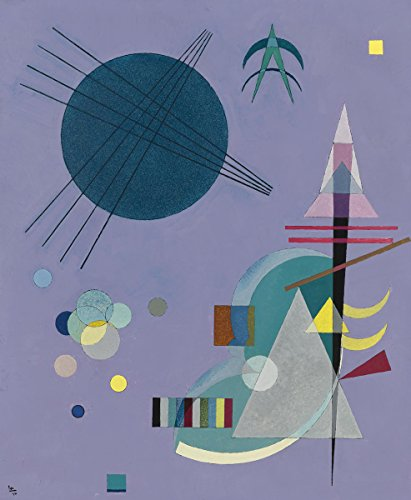 Wassily Kandinsky - Violett Grün (Violet Green), Size 24x30 inch, Gallery Wrapped Canvas Art Print Wall décor (Violett Grün)