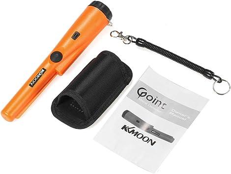 Pinpointer Detector de metales de mano,detector metales portatil Impermeable metal detector profesional con Zumbador funda de cintur/ón LED