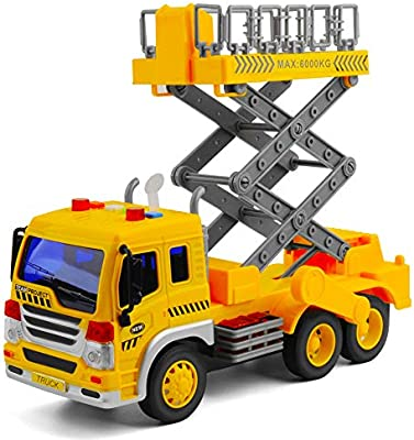 Gizmovine Toy Truck Friction Powered Bucket Lift Truck Toy, Super Duty Lift  Construction Vehicle Toy for Boys Age 4, 3, 2, 1:16 Scale