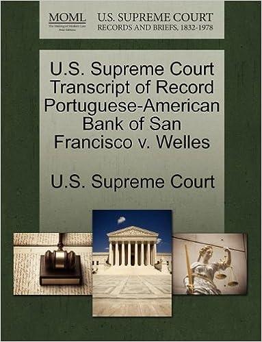 U.S. Supreme Court Transcript of Record American Bank