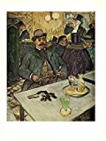 """Introducing: by HENRI de TOULOUSE-LAUTREC 1956 Vintage """"M. BOILEAU IN A CAFE"""" GREEN ABSINTHE ON THE TABLE, HE IS HOLDING A CIGARETTE AND CANE, COLOR offset Lithograph WOW!! A FAMOUS & FABULOUS PIECE! """"TIPPED"""" COLOR Art Print Offset Lithograph, th..."""