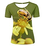 Best Honey-Can-Do Friend Gifts Shirts - liujinsheng Womens 3D Printed Bees Are Collecting Honey Review