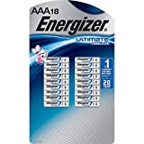 Energizer Ultimate Lithium AAA Batteries, Pack of 18