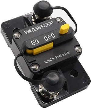 50 amp 12 Volt Resettable Inline Circuit Breaker Install KIT Boat Trolling Motor