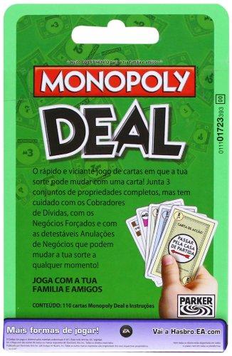 Hasbro 02231393 - Juego de cartas Monopoly (versión portugués)
