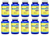 Super Brain Boost Nootropic 1554 Improve Focus Calrity Memory Concentration Contains Ginkgo Biloba St. John's Wort Bacopa Monniera DMAE 60 Capsules 10 Bottles