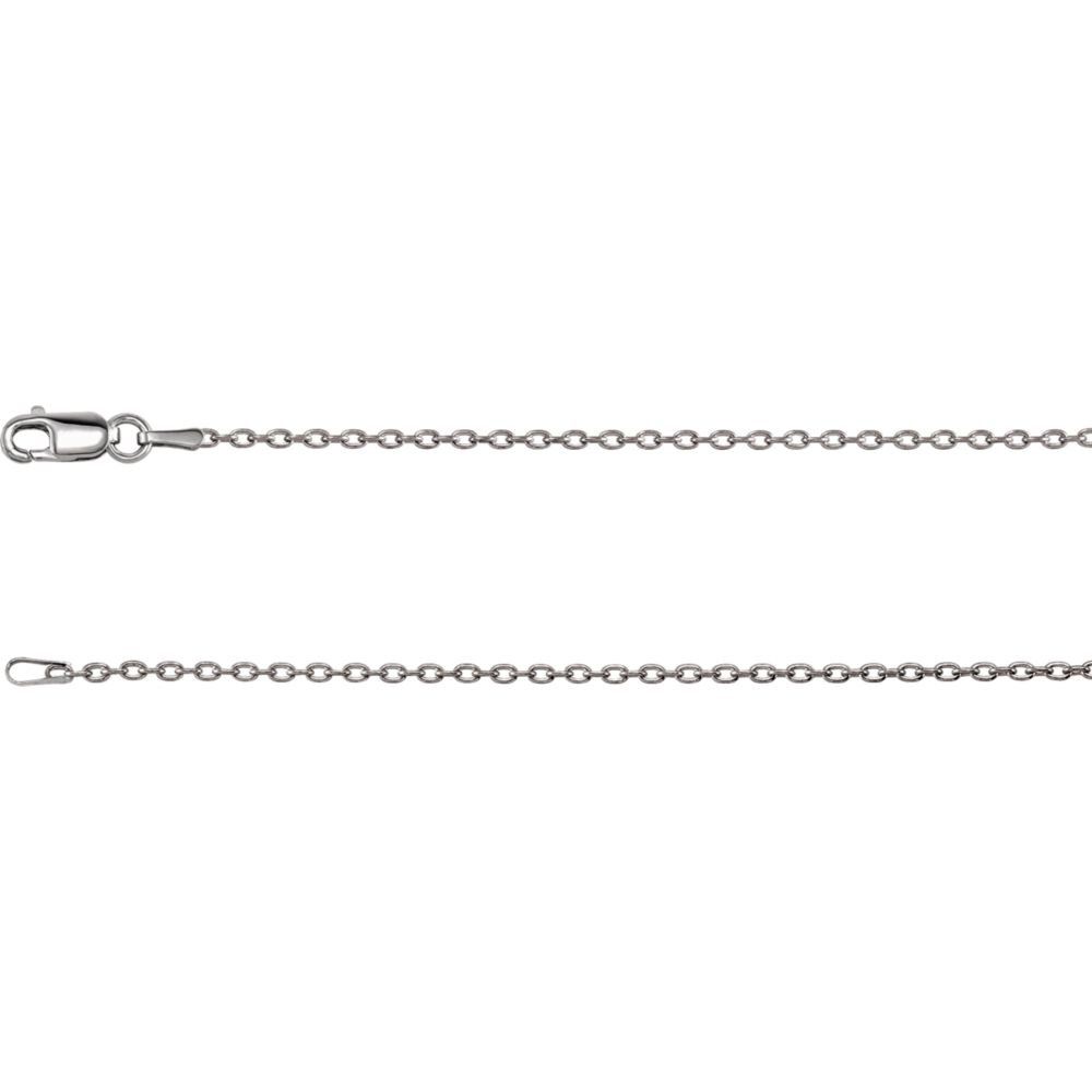 Jewels By Lux 14K White Gold 1.5mm Cable Chain