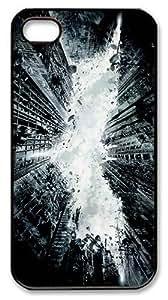 IMARTCASE iPhone 4S Case, City Destruction PC Black Hard Case Cover for Apple iPhone 4S/5