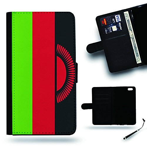 Malawi Housing (SPGCase Phone Accessory // Leather Wallet Case Card Slots Cover Protective Case for Samsung Galaxy S5 V SM-G900 // Malawi flag)
