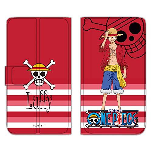 ONEPIECE ワンピース iPhone8 ケース 手帳型 薄型プリント手帳 ルフィ (op-001) カード収納 ストラップホール スタンド機能 WN-LC1073488_ML
