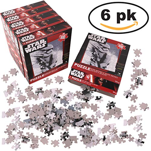 rs (100-Piece Puzzle) 6 PACK; Storm Trooper Birthday Party Favors For Kids ()