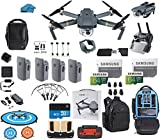 DJI Mavic Pro Drone Quadcopter Fly More Combo with 4 Batteries, 4K Professional Camera Gimbal Bundle Kit, 2-64GB SD Cards, Range Extender, Landing Pad, Must Have Accessories with Koozam Backpack