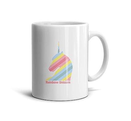 2e6e1692a2b Amazon.com: LOUTRTDF Magical Rainbow Unicorn (2) Mans and Womens ...