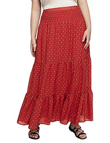 Lane Bryant Women's Dot Maxi Skirt 18/20 Fiery Red from Lane Bryant