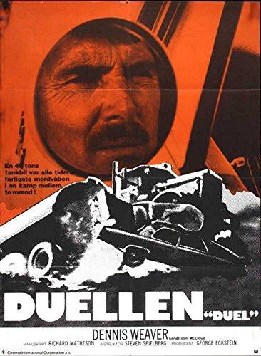 Duel Notice Movie Danish (11 x 17 Inches - 28cm x 44cm ) Dennis Weaver Jacqueline Scott Eddie Firestone Gene Dynarski Lucille Benson