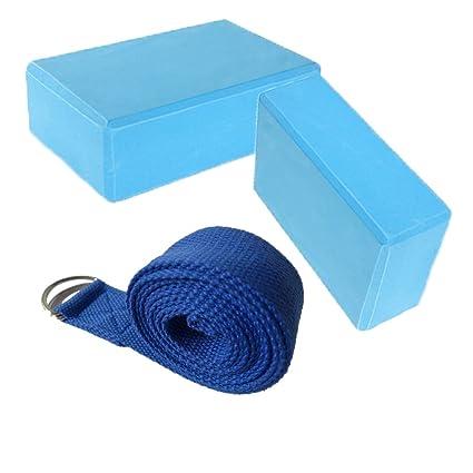 Fauhsto 2pcs Yoga Bloques Blocks + 1 Yoga Strap Set Eco ...