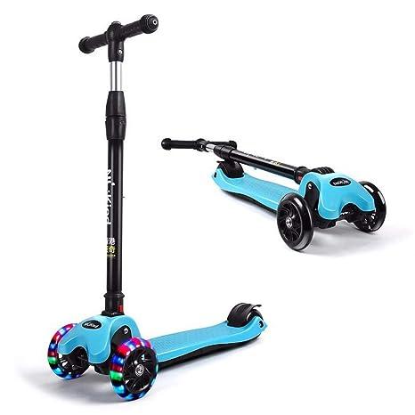 SSBH Patinete plegable for niños, patinete de 4 ruedas ...