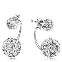 Silver Fashion Earrings Lovely temperament Stud Earrings Joker simple Stud Earrings