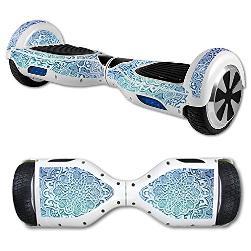 Price comparison product image MightySkins Skin For Self Balancing Mini Scooter Hover Board - Carved Blue | Protective, Durable, and Unique Vinyl Decal wrap cover | Easy To Apply, Remove, and Change Styles | Made in the USA