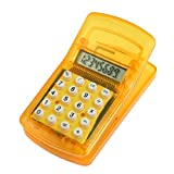 DealMux Clip Design Magnetic Sticker 8 digit Calculator, Clear Orange