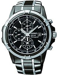Men's SSC143 Stainless Steel Solar Watch with Link Bracelet