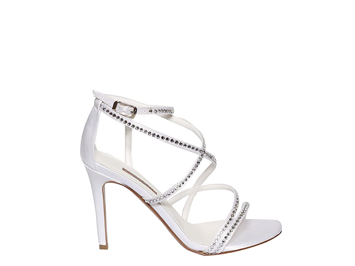 ALBANO Sandaleo Schuhe Sandaleo ALBANO Damenschuhe 3398 Mignon 7 Raso LUX Bianco Primavera Estate 2018 - 298bd0