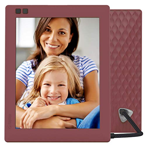 Nixplay Seed 8 Inch Digital Wi-Fi Photo Frame W08D (Mulberry) - Smart Frame with IPS Display, Motion Sensor and 10GB Online Storage, Display and Share Photos with Friends via Nixplay Mobile App