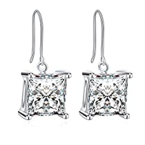 Necklace Women,925 Sterling Silver Cubic Zirconia Drop Necklace Earrings GUNDULA Fine Jewelry
