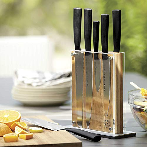 Schmidt Brothers - Acacia Midtown Magnetic Knife Block, Universal Cutlery Storage For 8 - 10, Acacia Hardwood and Acrylic Shield by THE SCHMIDT BROTHERS (Image #6)