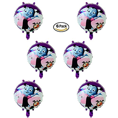 Vampirina Balloon 6 Pack Set of 18 Inch Mylar Foil Balloons by TESB