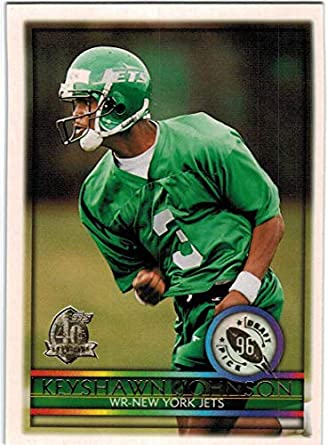 0f94bf2c Amazon.com: 1996 Topps New York Jets Team Set with Keyshawn Johnson ...