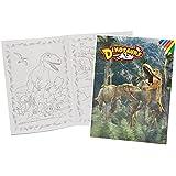 Malbuch A4 - Dinosaurier Dino - Malvorlagen Dinos zum Ausmalen Malspaß groß Tyrannosaurus Rex Saurier