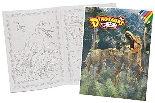 Malbuch A4 - Dinosaurier Dino - Malvorlagen Dinos zum Ausmalen ...