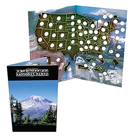 National Park Quarter Collection Book Folder Map - State Quarter Collection