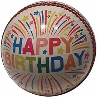Cadeau boules de cricket Happy Birthday–Taille Unique–Joyeux anniversaire Hunts County