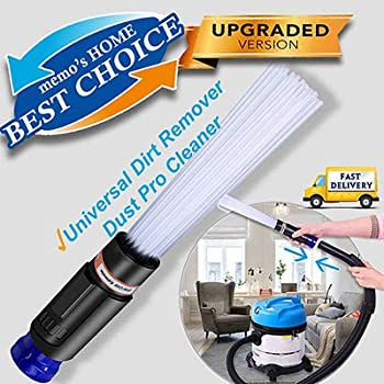 memo's HOME Dust Pro Cleaner - New 2019 Universal Dirt Remover, Sweeper Vacuum Attachment Dust Vac Cleaning Tools with Flexible Dusty Brush, Tiny Tools Compatible (Easy Duster)