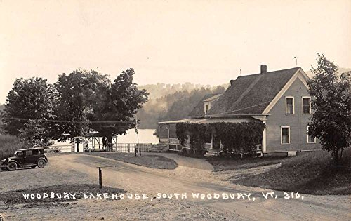South Woodbury Vermont Lake House Real Photo Antique Postcard - Woodbury Lakes