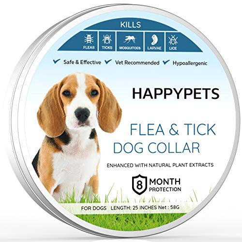 a And Tick Collar For Pets Dogs Cats - Vet Recommended Premium Hypoallergenic Adjustable Waterproof Natural 8 Month Protection  ()