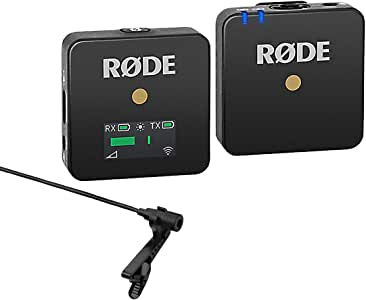 Rode Wireless GO Compact Microphone System Includes Tansmitter and Receiver - with Stony Edge Lav Condenser OmniDirectional Lavalier/Lapel Microphone