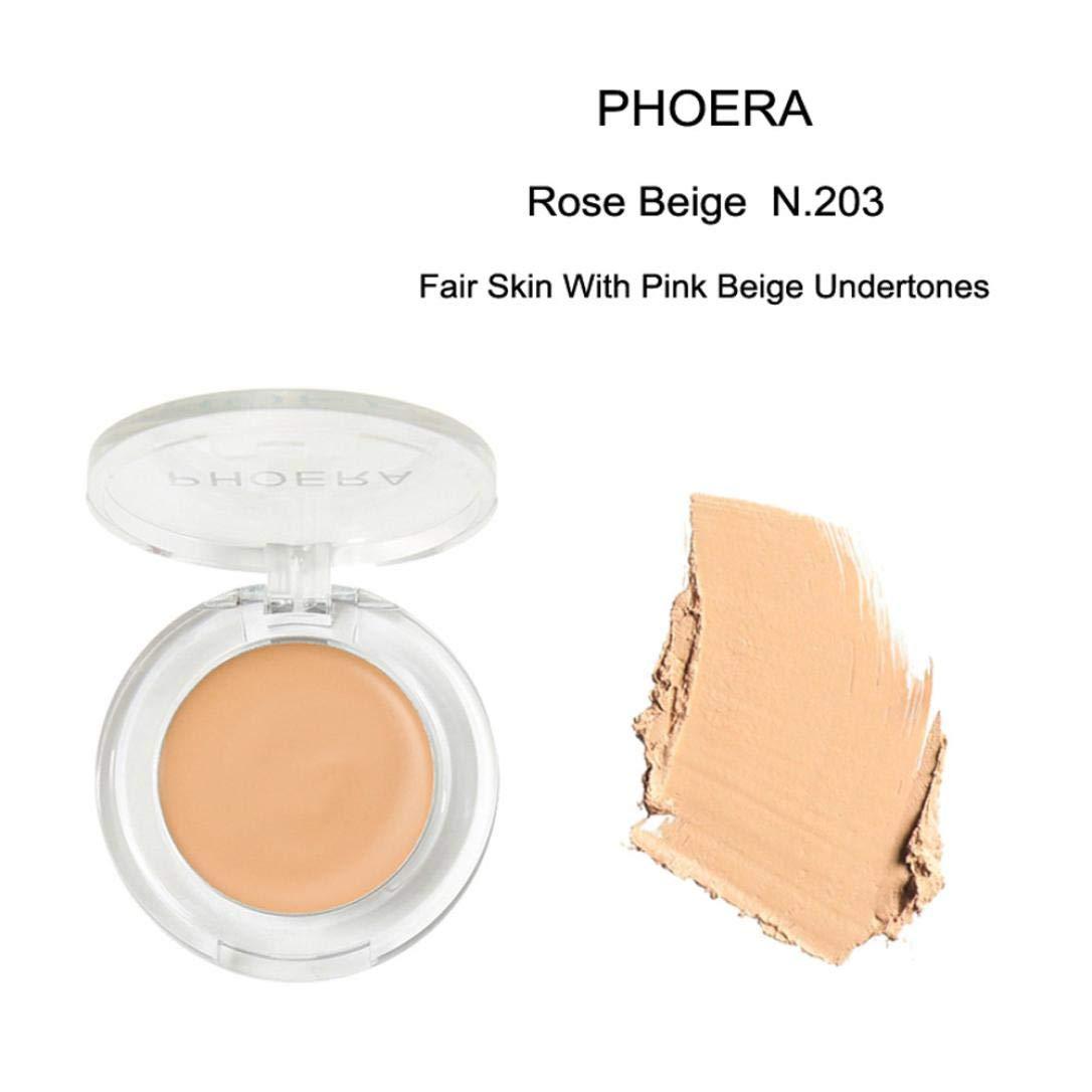 Hot Sale! Hongxin Clearance PHOERA Face Makeup Concealer Foundation Palette Creamy Oil-Control Moisturizing Whitening Concealer Makeup Beauty Kit (C)