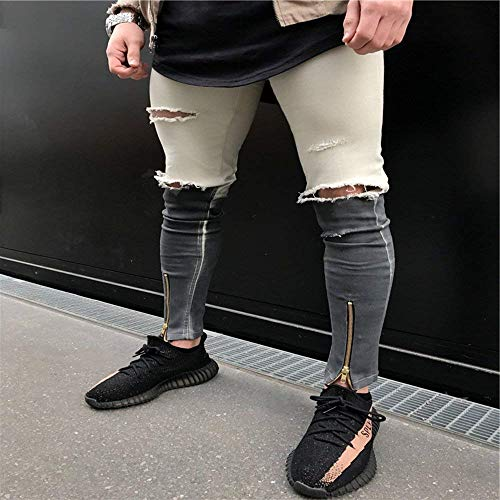Fit Cotton Especial Dritti Elastici Da Uomo Fashion Alti Ssig Pantaloni Estilo Slim I Blue Jeans Morbidi Comodi wTXqn0Sng