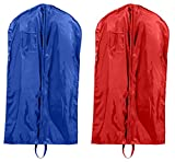 Liberty Bags Single-Zippered Nylon Garment Bags Set_ROYAL & RED_OS