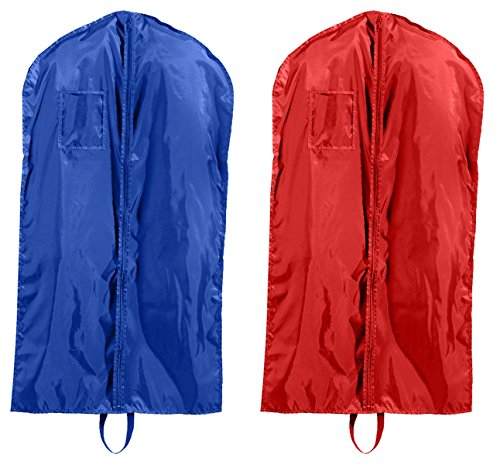Liberty Bags Single-Zippered Nylon Garment Bags Set_ROYAL & RED_OS by Liberty Bags