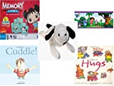 Childrens Gift Bundle - Ages 3-5 [5 Piece] - Ni Hao Kai-LAN Edition Memory Game - Dora The Explorer Decorative Border - Ty Beanie Baby - Spot The Dog - Cuddle. Hardcover Book - A Book of Hugs Pa