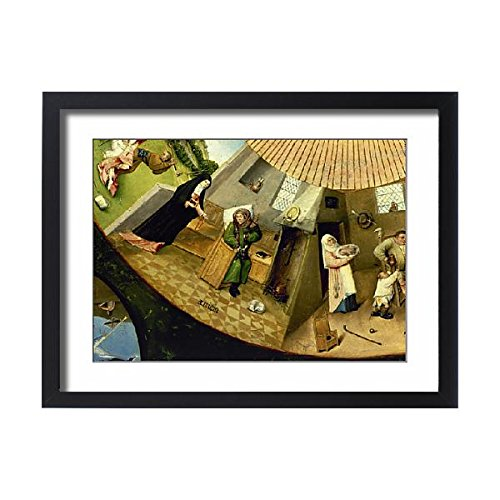Framed 24x18 Print of Table of the Seven Deadly Sins by Hieronymus Bosch (14404090) ()