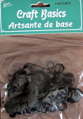 Craft Basics CURLY DOLL HAIR: Pack of BLACK Doll HAIR 1/2 Oz or 14 Grams (Halloween Beards Canada)
