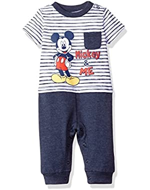 Disney Baby Boys' Mickey Mouse Romper