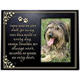 Pet Memorial Sympathy Bereavement Photo Frame Those We Love don't go away They walk beside us every day Frame Holds 4x6 Photo (Black)