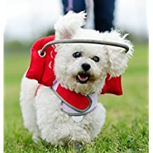 Muffin's Halo Guide For Blind Dogs - Angel Wings Red (S)